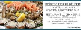 Soirées fruits de mer 2017